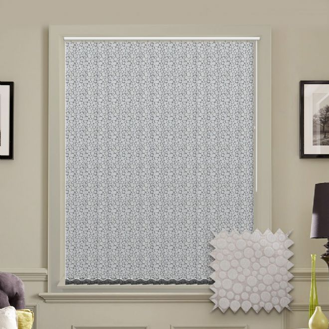 Made to Measure Polka Diamond Vertical Blind - Just Blinds